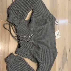 Sweaters - Seek the label - grey knit sweater